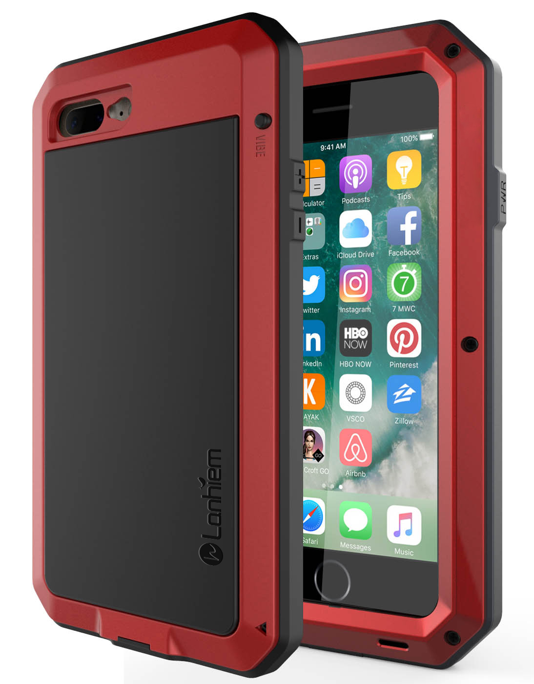 Lanhiem iPhone 7 Plus / 8 Plus Case -Red