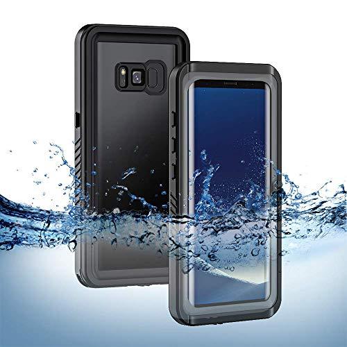 best website dc877 236af Lanhiem Samsung Galaxy S8 Waterproof Case - Black+Grey